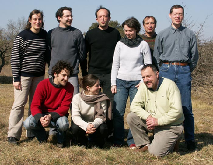 Le conseil d'administration et l'équipe Tela Botanica. Mars 2004