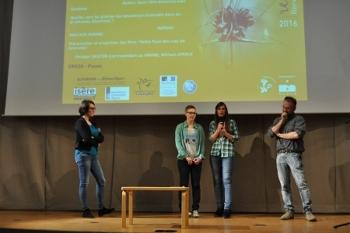 Audrey Tocco, Marieke Trasser, Marine Rivolet et Rolland Douzet lors des rencontre botaniques de Grenoble