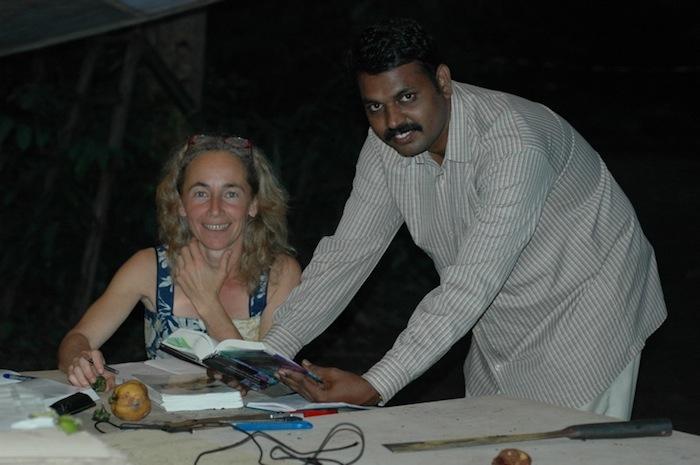 Ayyappan et Juliana, botanistes de l'expédition