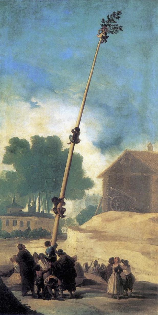 Francisco Goya, « Le mât de cocagne », 1797