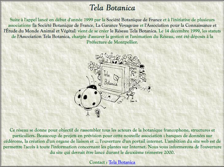 Annonce de la création de Tela Botanica dans la revue