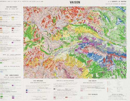 Carte de la végétation de Vaison (1969)