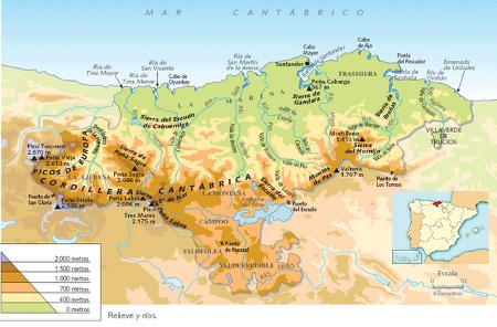 Localisation de la Cantabrie
