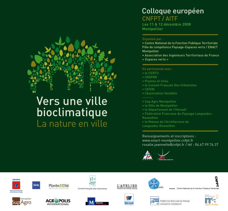Colloque vers une ville bioclimatique la nature en ville for La nature en ville
