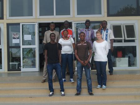 Une partie du groupe des ateliers de l'IFAN à Dakar