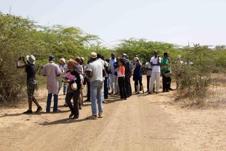 Sortie lors de la journée de réstitution des ateliers à Toubab Dialaw