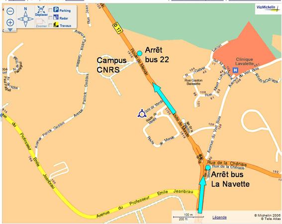 Plan d'accès par bus