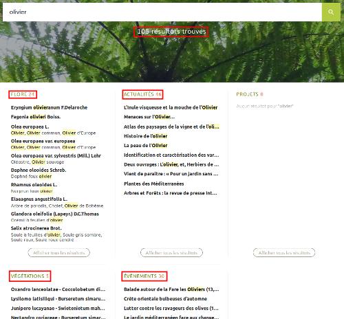 Résultats pour le mot olivier