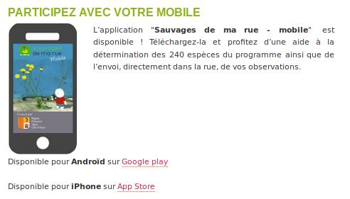 """Page """"Comment participer ?"""" du site Internet du programme Sauvages de ma rue (http://sauvagesdemarue.mnhn.fr) - CC BY-SA Tela Botanica."""