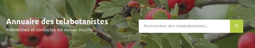 Page Annuaire des telabotanistes, barre de recherche sur le site Internet de Tela Botanica - CC BY-SA Tela Botanica