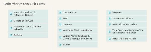 Bas de la page eFlore du site internet de Tela Botanica - CC BY-SA Tela Botanica