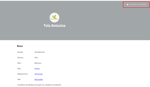 Page Profil de Tela Botanica sur le site Internet de Tela Botanica - CC BY-SA Tela Botanica