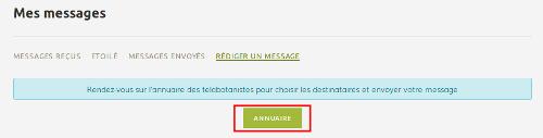 Page Tableau de bord, onglet rédiger un message sur le site Internet de Tela Botanica - CC BY-SA Tela Botanica