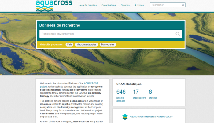 La plateforme d'information (PI) AQUACROSS