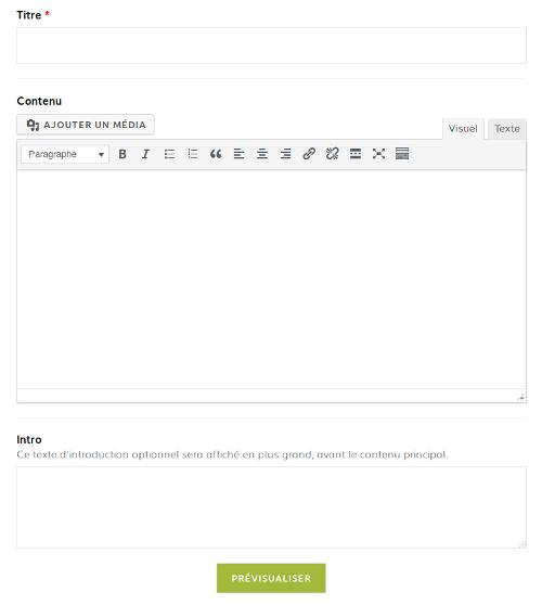 Illustration du formulaire de partage d'informations