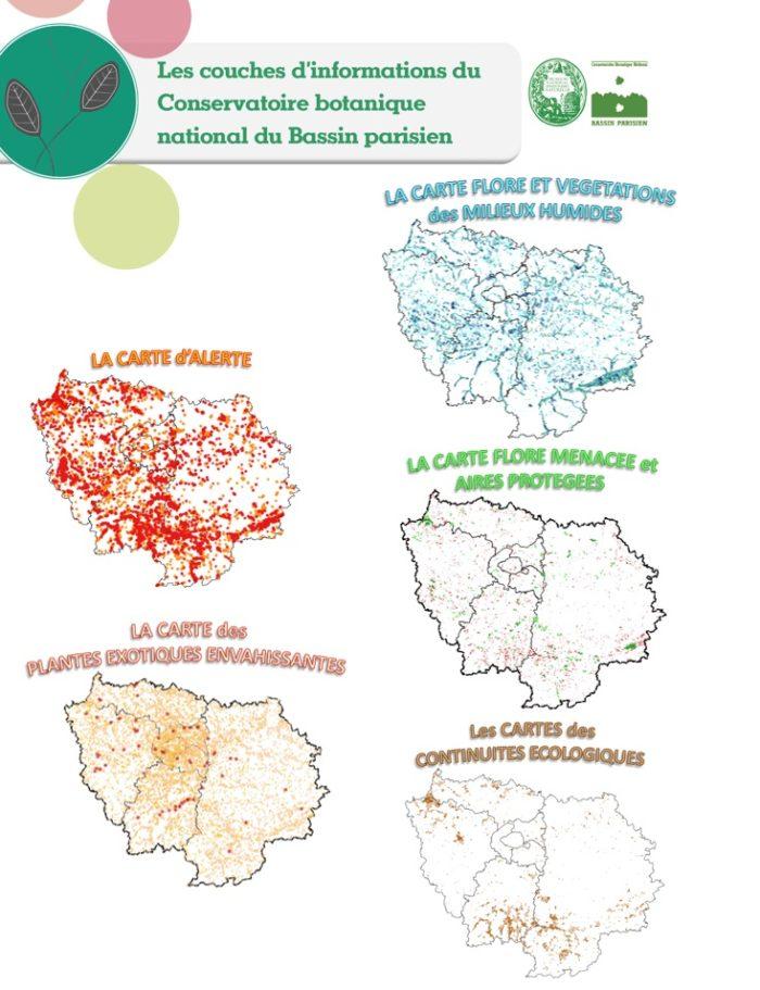 Les coucches d'information thématiques du CBNBP