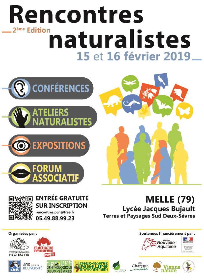 Rencontres naturalistes en Poitou-Charentes 2019