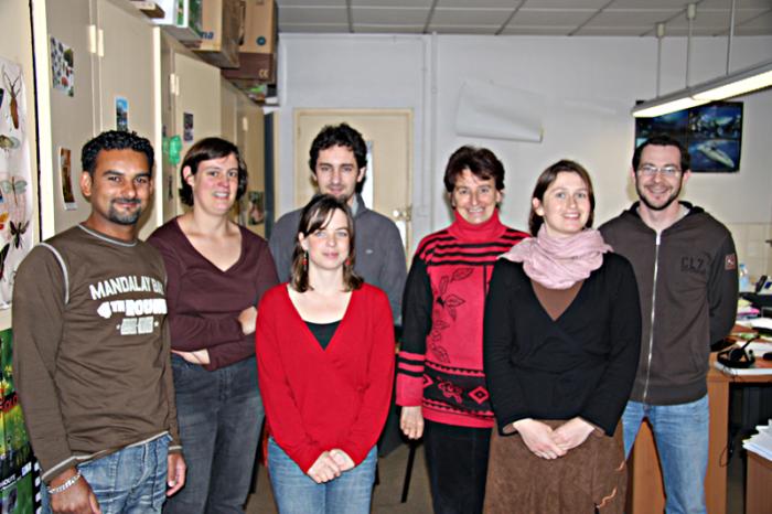 Equipe de 2008 Tela Botanica avec de gauche à droite, Mamode, Tamara, Alexandre, Mathilde, Anne, Annabelle, Jean-Pascal.
