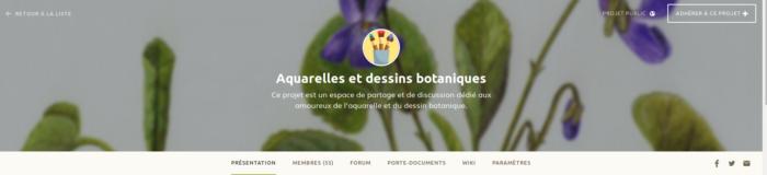 Espace projet Aquarelles et dessins botaniques