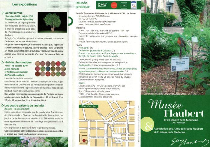 Herbier chromatique Musée Flaubert 2019
