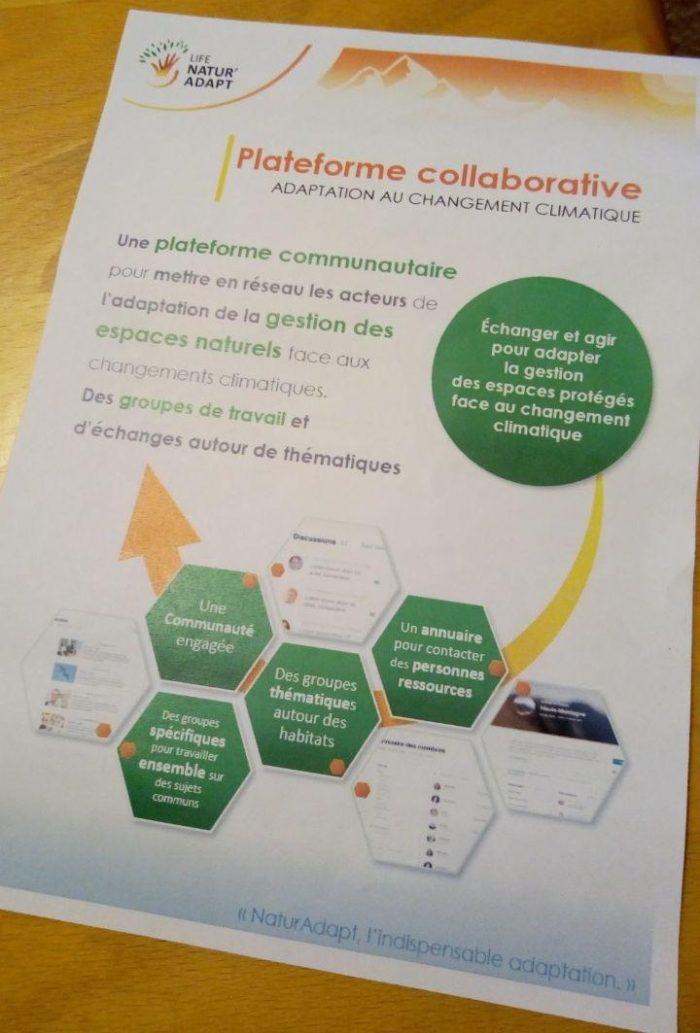 Plaquette de présentation de la plateforme NaturAdapt - Licence CC BY SA (Tela Botanica)