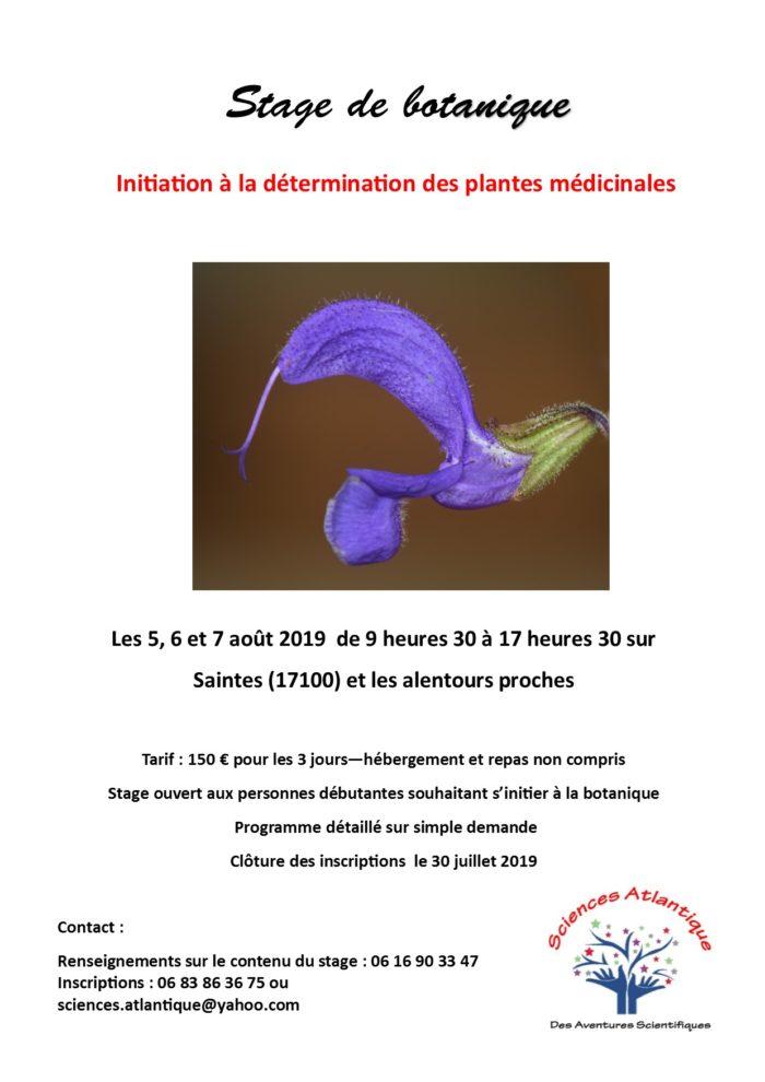 Affiche Stage botanique aout