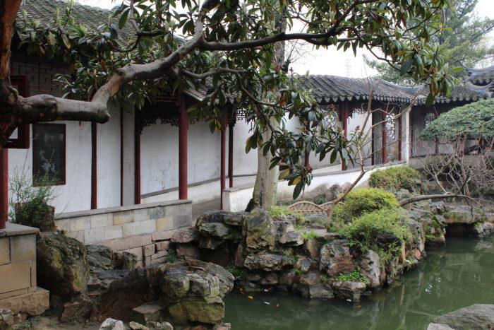 Vue du Jardin de la Retraite du Couple (耦园 [ǒuyuán]), à Suzhou, classé au patrimoine de l'humanité par l'UNESCO en 2000