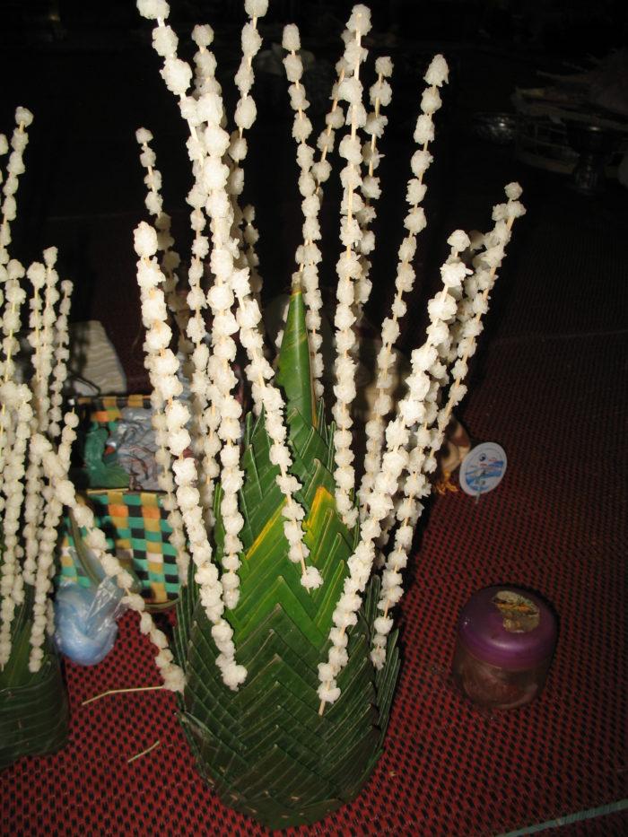 Les mille boulettes de riz fabriquées pour la fête