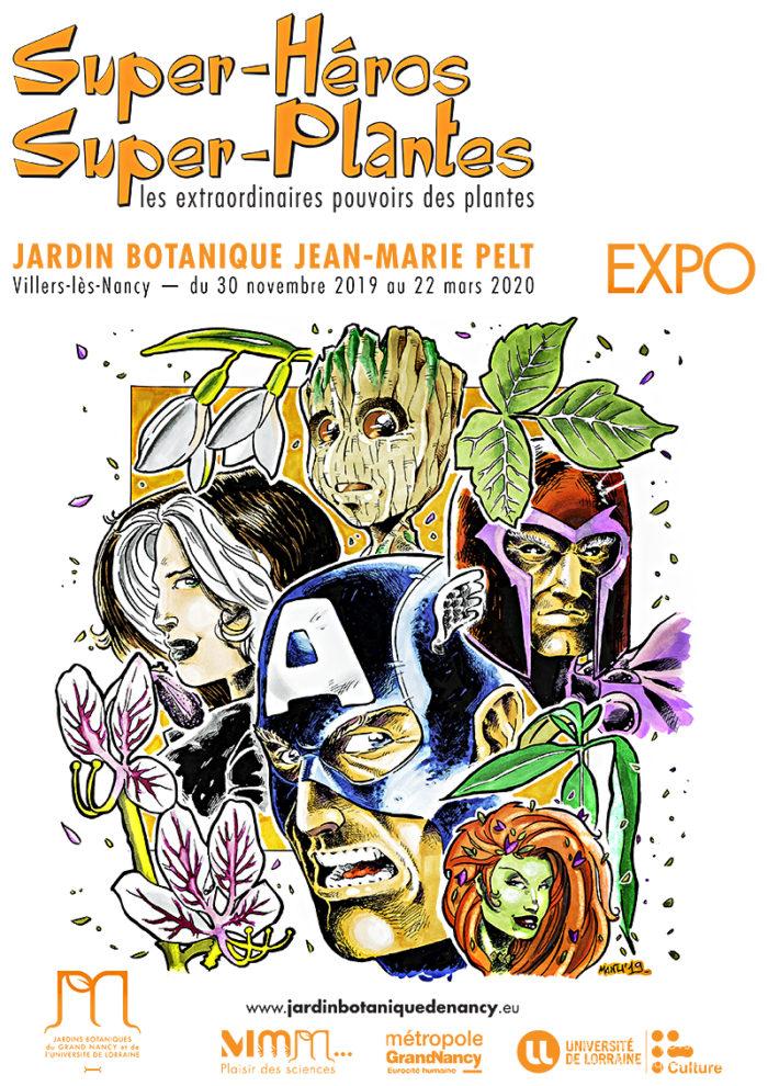 affiche super héros super plantes