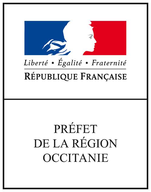 logotype DREAL Occitanie - préfet occitanie