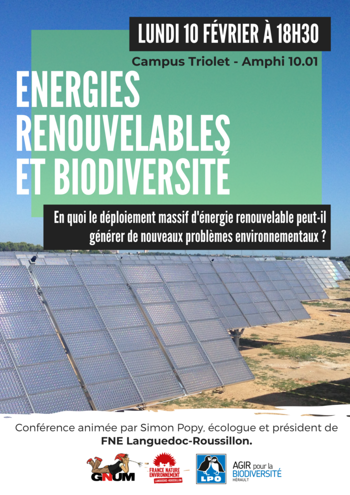 Energies et biodiversité.