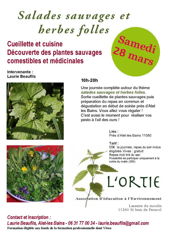 Laurie salades sauvages et herbes folles 28 mars