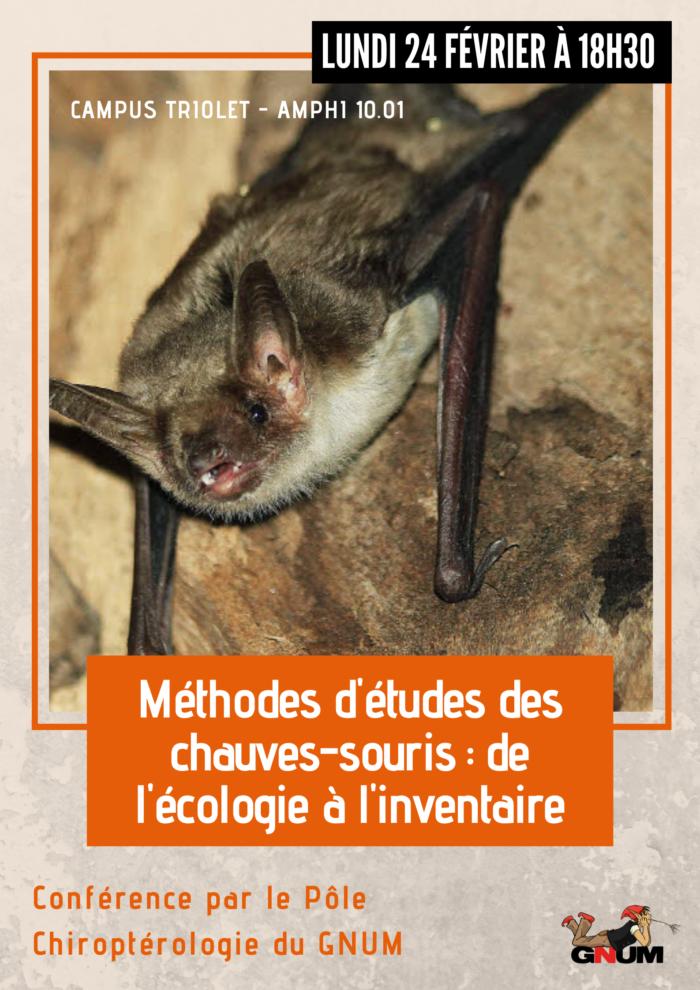 Méthodes d'études des chauves-souris _ de l'écologie à l'inventaire_affiche
