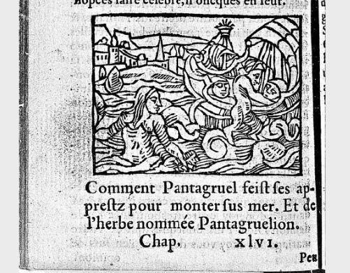 François Rabelais. Illustrations du Tiers livre des faictz et dictz héroïques du noble Pantagruel. Chapitre XLVI.