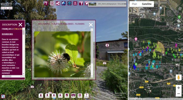 Capture d'écran de la visite virtuelle du Jardin botanique de l'Université Paris Saclay