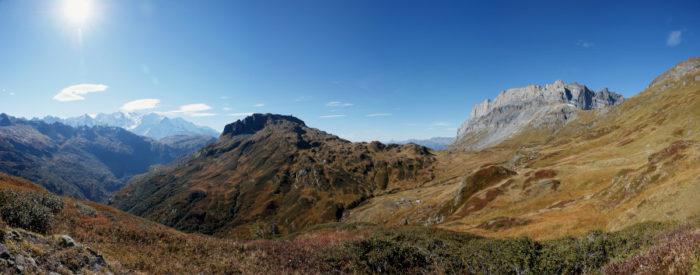 Réserve de Sixt-Passy, Panorama avant Ecuelle
