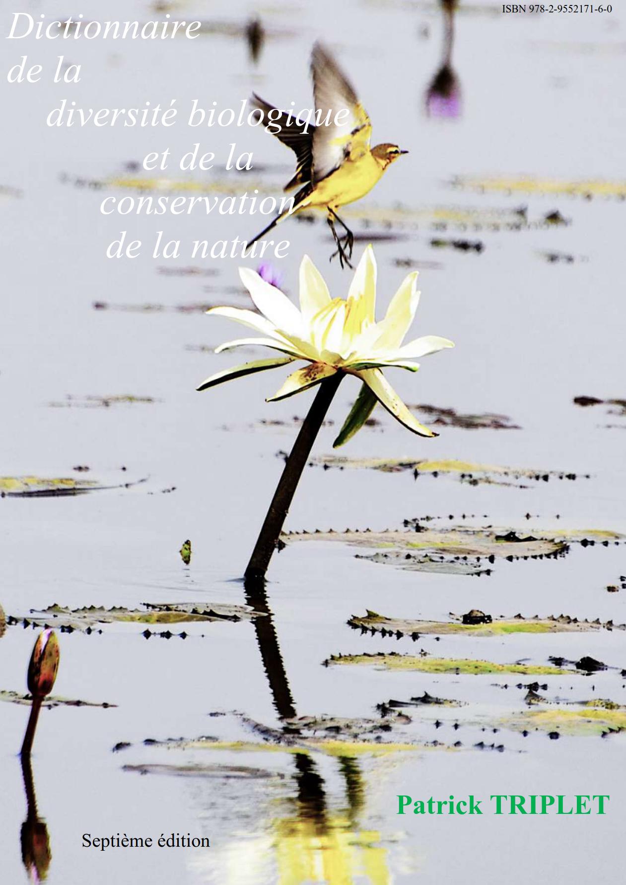 Couverture Dictionnaire encyclopédique de la diversité biologique et de la conservation de la Nature (7ème édition).
