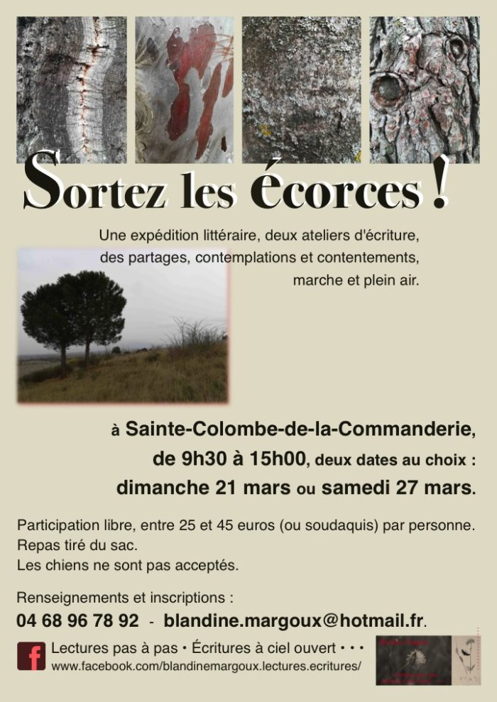 Écorces - Affiche A4 - Mars 2021 - 2 dates