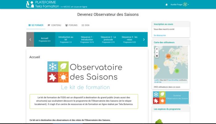 capture écran de la formation ODS