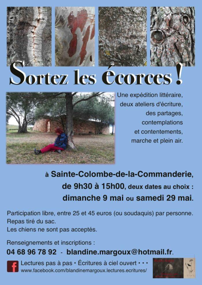 Écorces - Affiche A4 printanière - Mai 2021 - 2 dates