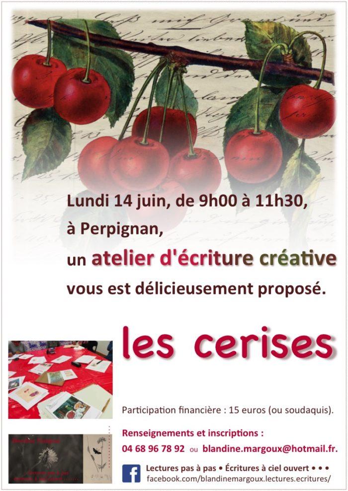 Blandine Margoux - Cerises - 14 juin 2021, Perpignan - Affiche A4