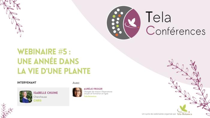 TELA CONFERENCES_5_Isabelle Chuine une annee dans la vie d'une plante