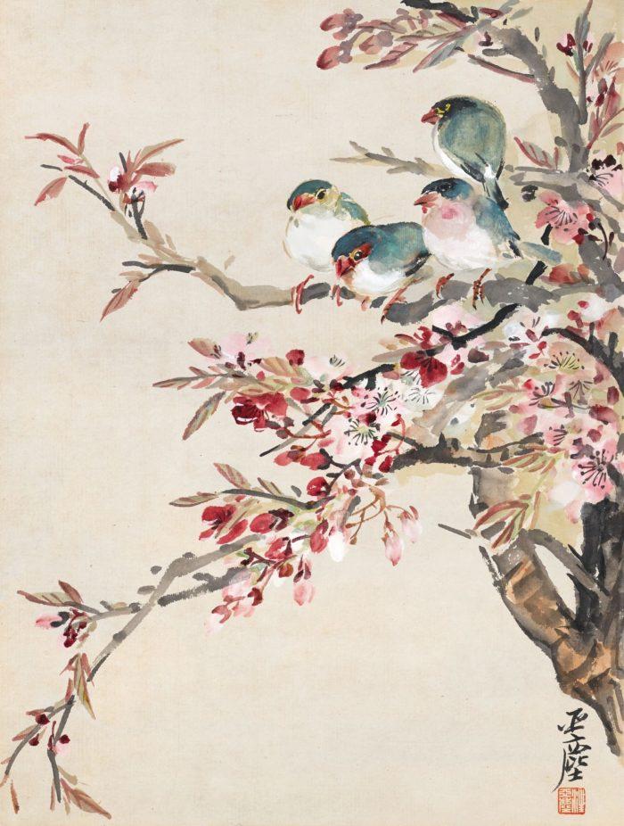 汪亚尘(1894-1983) 红杏枝头春意闹