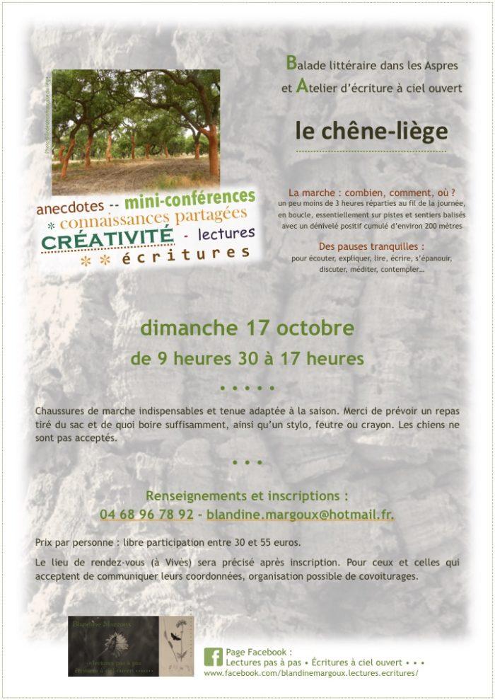 Chêne-liège - Octobre 2021 - 1 date - Communication A4