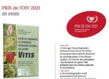 Prix OIV Vignes et vin 2021 - Vitis botanique CBNFC-ORI